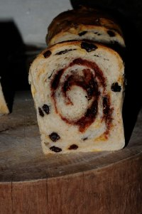 Raisin Swirl With Volcano
