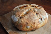 Pistachio-Walnut Sourdough Bread
