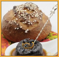 Butterless Brioche & Plastered Plums