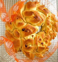 White Chocolate And Cranberry Wreath Bread