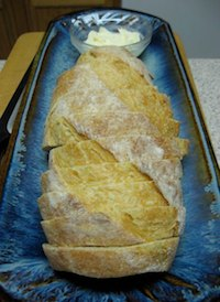 No-knead Semolina Bread