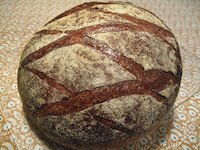 Country Bread with fresh milled flour