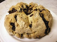 White Irish Soda Bread with Chocolate