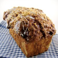 Cinnamon Raisin Swirl Bread with Streusel Topping