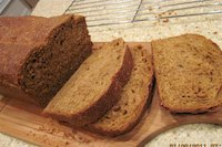 Molasses Wheat Bread with Rye Flakes