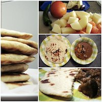 Grilled Flat Bread with Vegetables Dhal