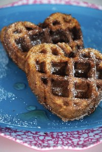 sweet potato whole grain waffles