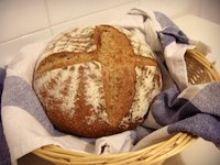 Caraway country bread (in Spanish)