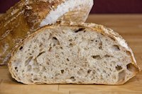 Sourdough with roasted oat flakes