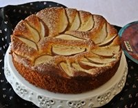 Yeasted Olive Oil Pear Cake