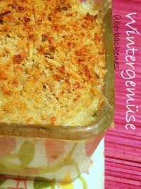 Scalloped vegetables with breadcrumbs