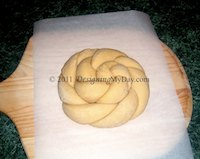 Challah Rosette Shaping (+ Video)