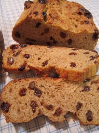 Flaxseed Raisin Bread