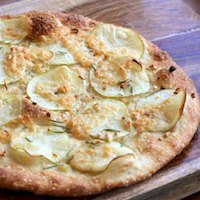 Potato, Garlic, and Rosemary Pizza