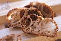 36hr+ sourdough baguette with 80% wholegrain
