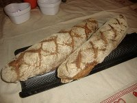 Wholemeal Sourdough Baguette