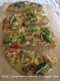 Tomato, Parmesan and Basil Flatbread
