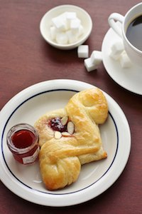 Pomegranate Jelly & Cream Cheese Danish