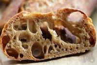 36hr+ sourdough baguette with 100% wholegrain