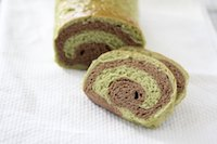 Matcha Chocolate Swirl Bread