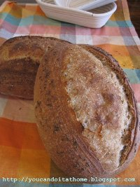 Light Rye Sourdough with Caraway Seeds