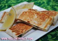 Gozleme - made on the sandwich press!