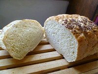 Semolina Flax Honey Bread