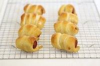 Mini pretzel dogs