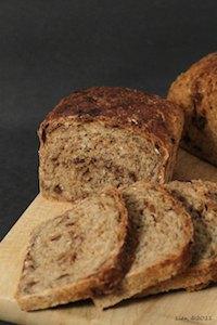 Oatmeal date bread (no knead version)