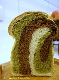Matcha Choc Marbled Bread
