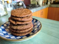 Single Serving Yeasted Chocolate Pancakes