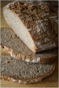 Whole Grain Rye (no-knead)