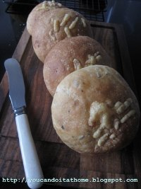 Potato Rosemary Bread Rolls with Cheddar Cheese