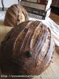 Sourdough Rye Bread with Raisins and Walnuts