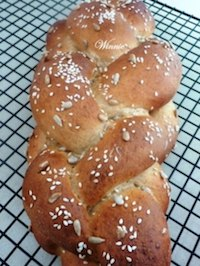 Challah - made of mix flours