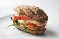 Chicken sandwich with apple and saffron aioli