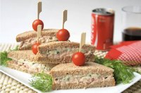 Blue cheese and tuna sandwich