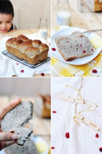Black Sesame Bread with Cranberry