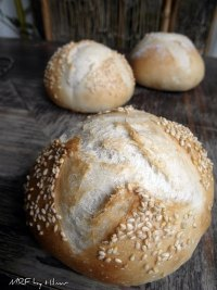 Sourdough white rolls
