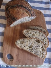 Semolina Sourdough with Black Sesame Seeds