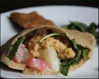 Pita and falafel wraps