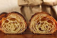 croissant with sourdough starter