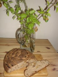 Milk Sourdough with Dried Pears