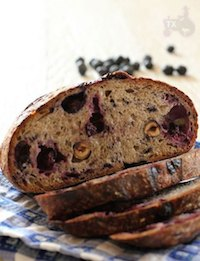 blueberry sourdough with hazelnut