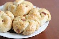 Bacon brioche rolls