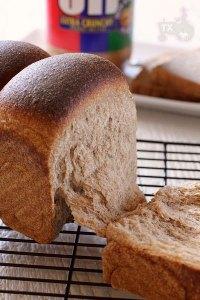 Sourdough 100% whole wheat banana sandwich loaf