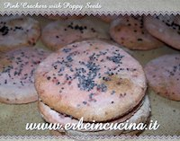 Pink Crackers with Poppy Seeds