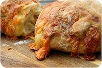 Cheddar-Stuffed Crusty Sourdough Loaves