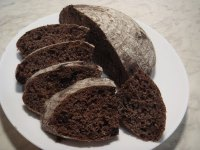 100% Whole Wheat Chocolate Hearth Bread
