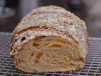 Apricot and wheatgerm bread